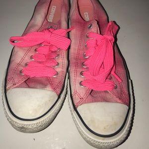 Converse women's plaid sneakers